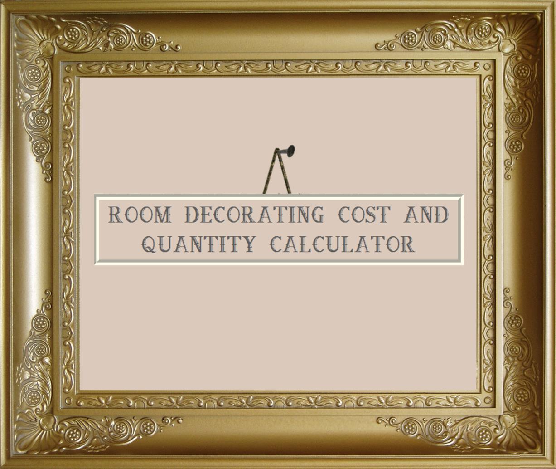 Room Decorating Cost And Quantity Calculator Poles
