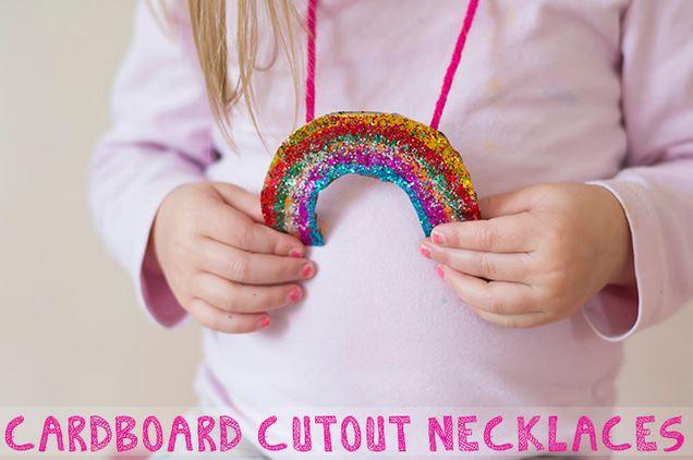 cardboard neckalce