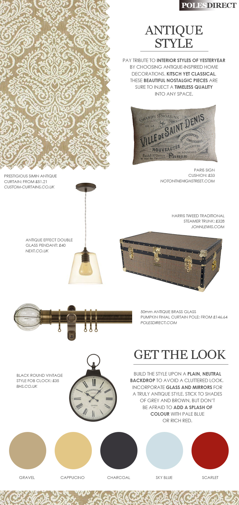 Antique Style Mood Board