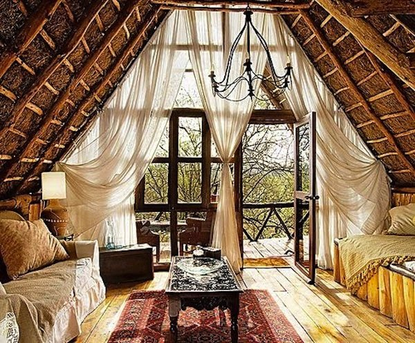 Airy bohemian style room