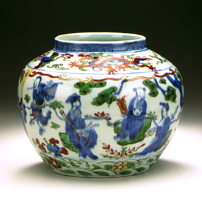 Ming Vase Colourful