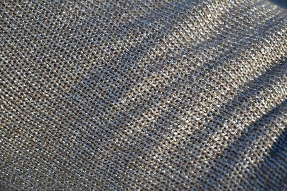 Metallic fabric soft furnishings