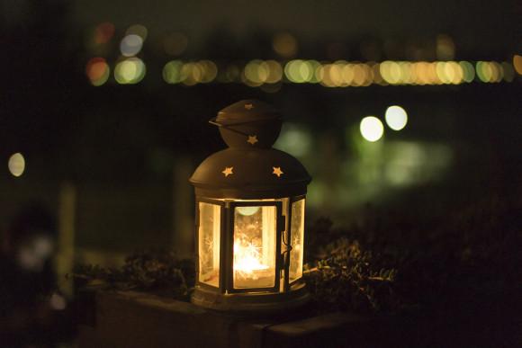 Metal garden accessories lantern